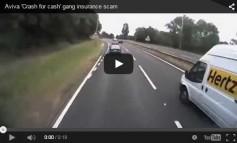 Aviva crash for cash gang insurance scam caught red-handed