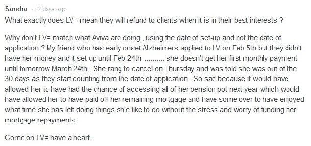 LV= goes the extra mile on pension case