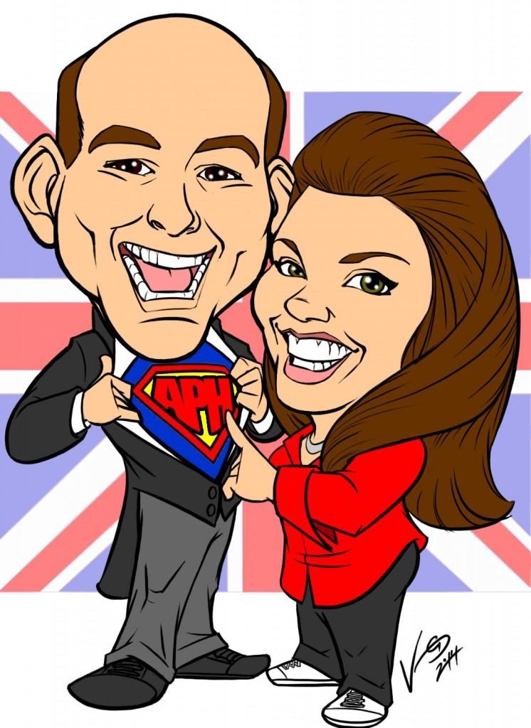Chris and Nicola Caricature